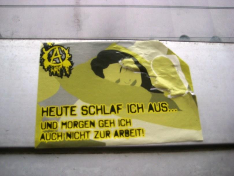 Saarbrücken_sticker_13.01.13_gegen Arbeit - Anarchie