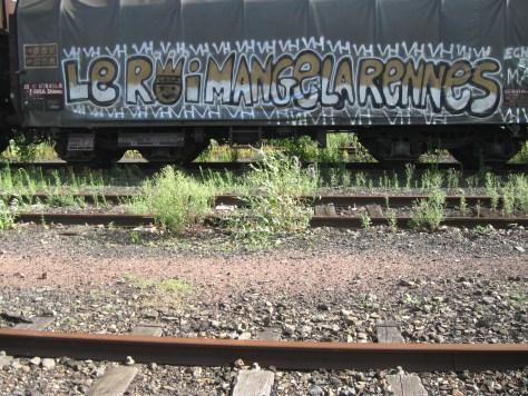 graffiti Rennes Aout 2012 VH-le roi mange la rennes