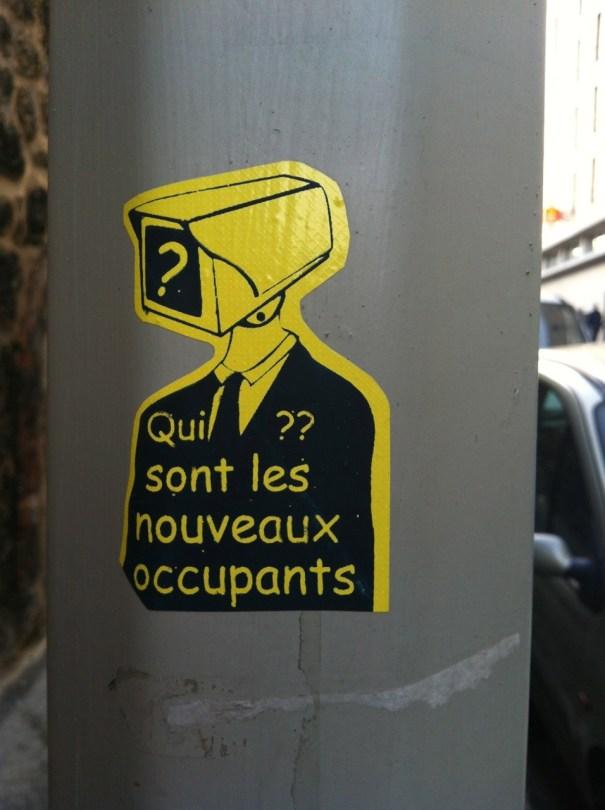 Marseille - sticker - qui sont les nouveaux occupants - nov 2012