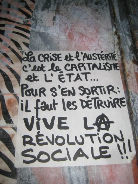 septembre 2014, vive la revolution sociale - sticker -besancon