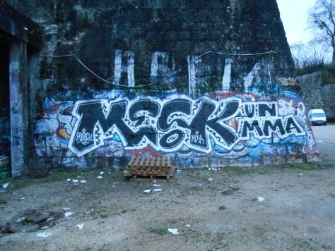 Mesk1, MMA - graffiti - besancon - 2015