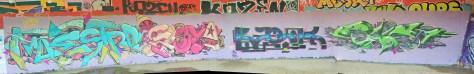 Besancon - Maestro, Soya, Basik, Eskat - graffiti 2015 (1)
