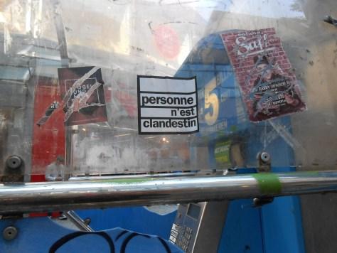 personne n'est clandestin - sticker - wuppertal, DE Sept.2015 (2)