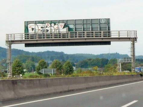 DEBIL graffiti Allemagne sept 2015