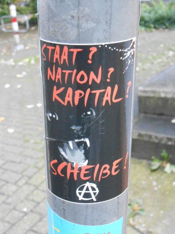 staat, nation, kapital, scheisse - sticker -Wupperetal 2015