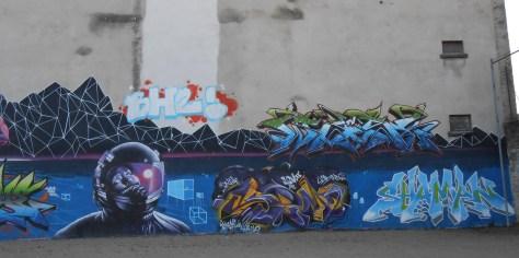 wask, robea, senz, shaman - graffiti besancon 2015.2
