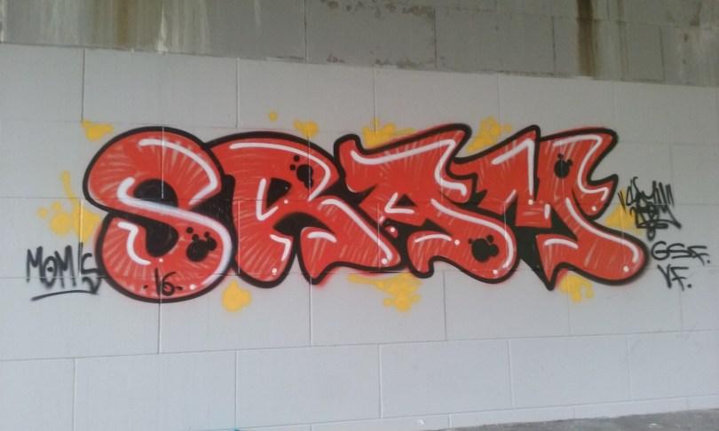 SRAM besancon graffiti 2016