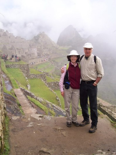 Bob and Jean at Machu Picchu, Urubamba Province, Peru