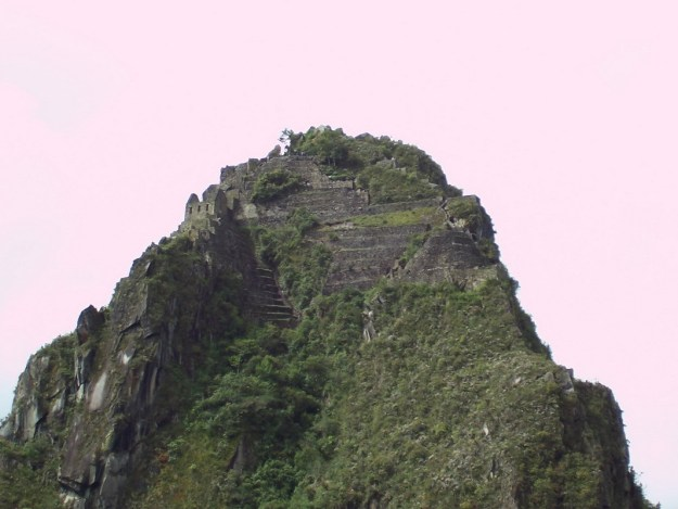 The top of Huayna Picchu mountain at Machu Picchu, Urubamba Province, Peru
