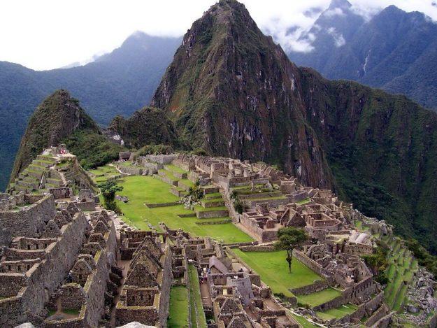 Machu Picchu, in Urubamba Province, Peru.