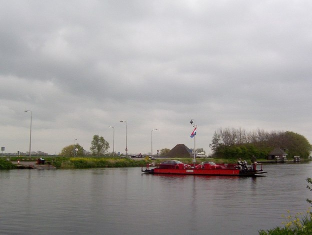 Crossing the River to Zaanse Schans Holland 2