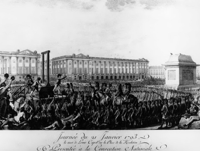 Louis XVI execution by guillotine