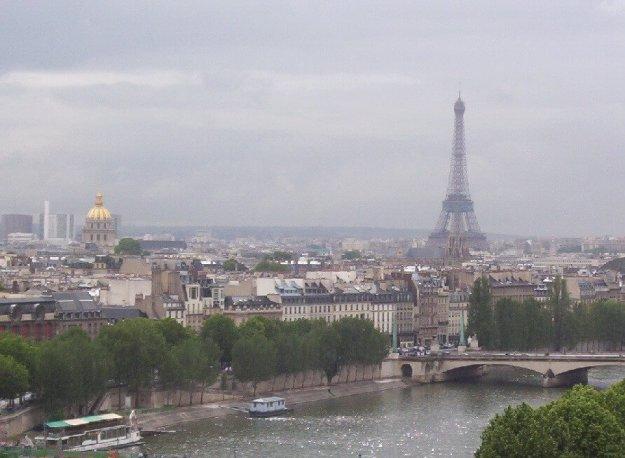 Paris on a rainy morning