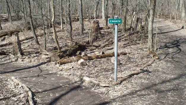 Marshwalk Trail sign - Cootes Paradise Marsh - Hamilton - Ontario