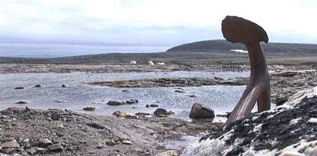 basecamp on kekerten island - nunavut