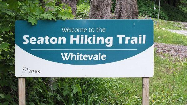 seaton hiking trail sign - whitevale - ontario