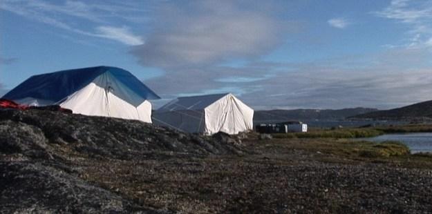 tents on kekerten island, nunavut, canada
