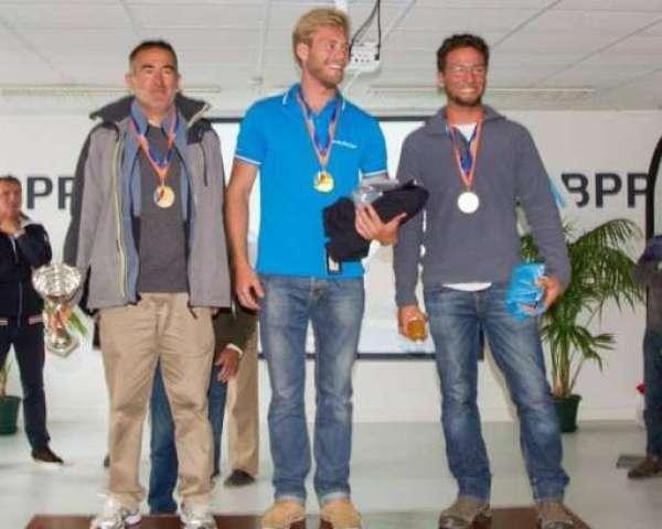 Podium Hommes Championnats de France 2016 : bronze : Franck Loup (Mauguio Carnon), Or : Benjamin Longy (CNBPP), Argent: Paul Hirtzmann (Nantes)