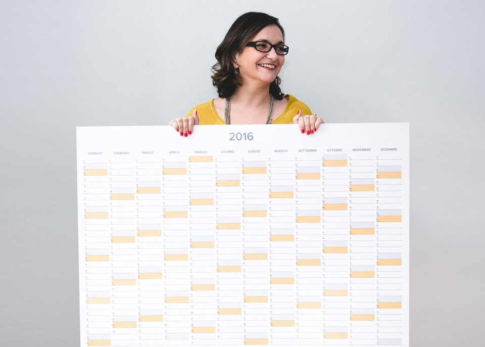 Francesca Marano con il wall planner