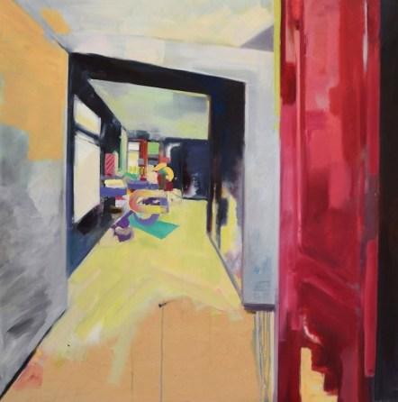 Blue Room. Oil on Panel. 2015.