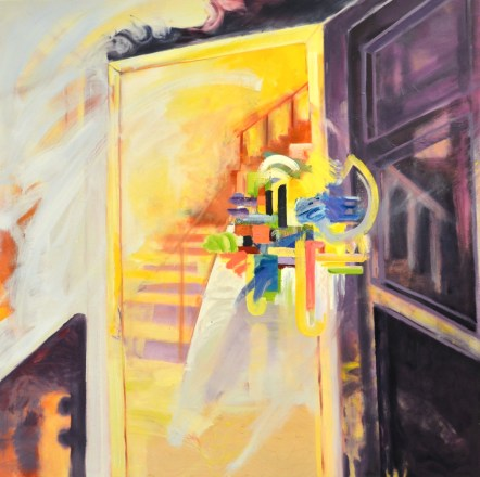 """""""Yellow Stairs"""". Oil on Panel. 2015"""