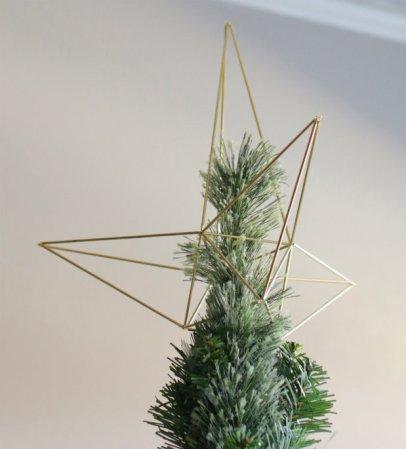 geometric tree topper