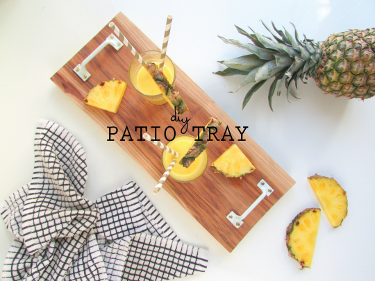 DIY Patio Serving Tray | Francois et Moi