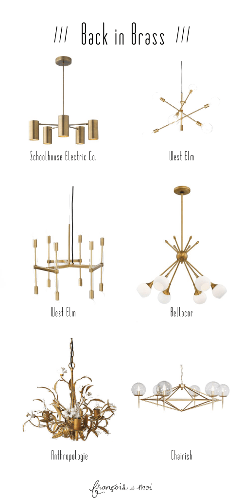 Brass Dining Room Chandeliers | Francois et Moi