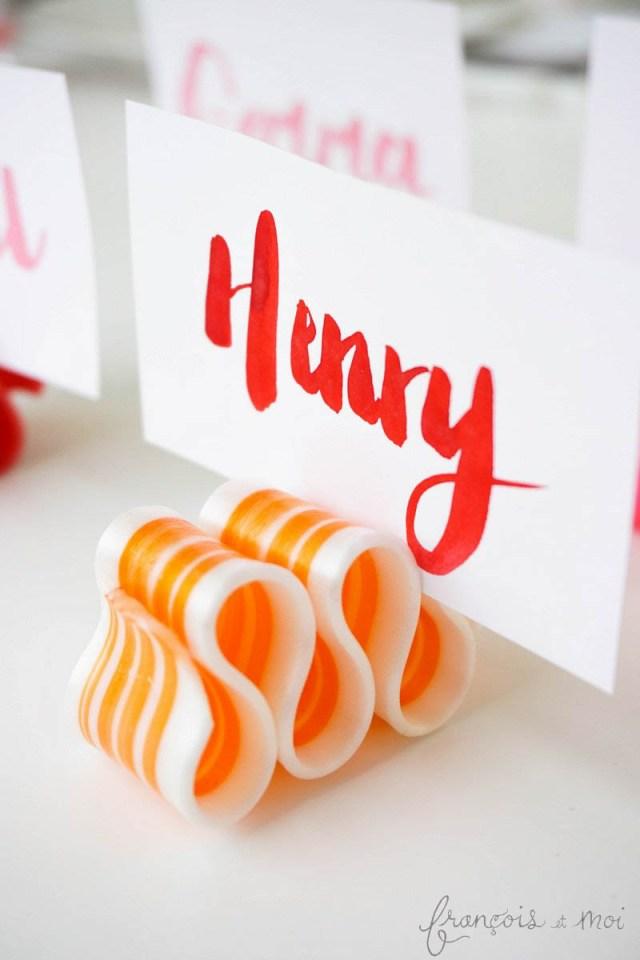 Candy Ribbon Place Card DIY | Francois et Moi