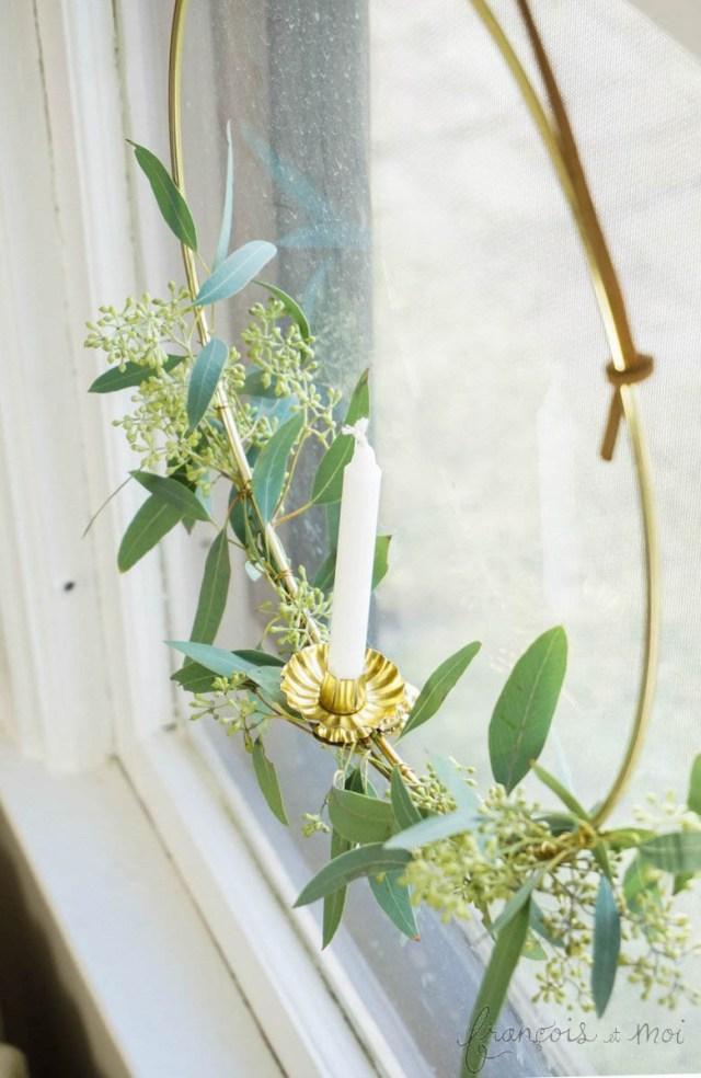 Candle Wreath DIY | Francois et Moi