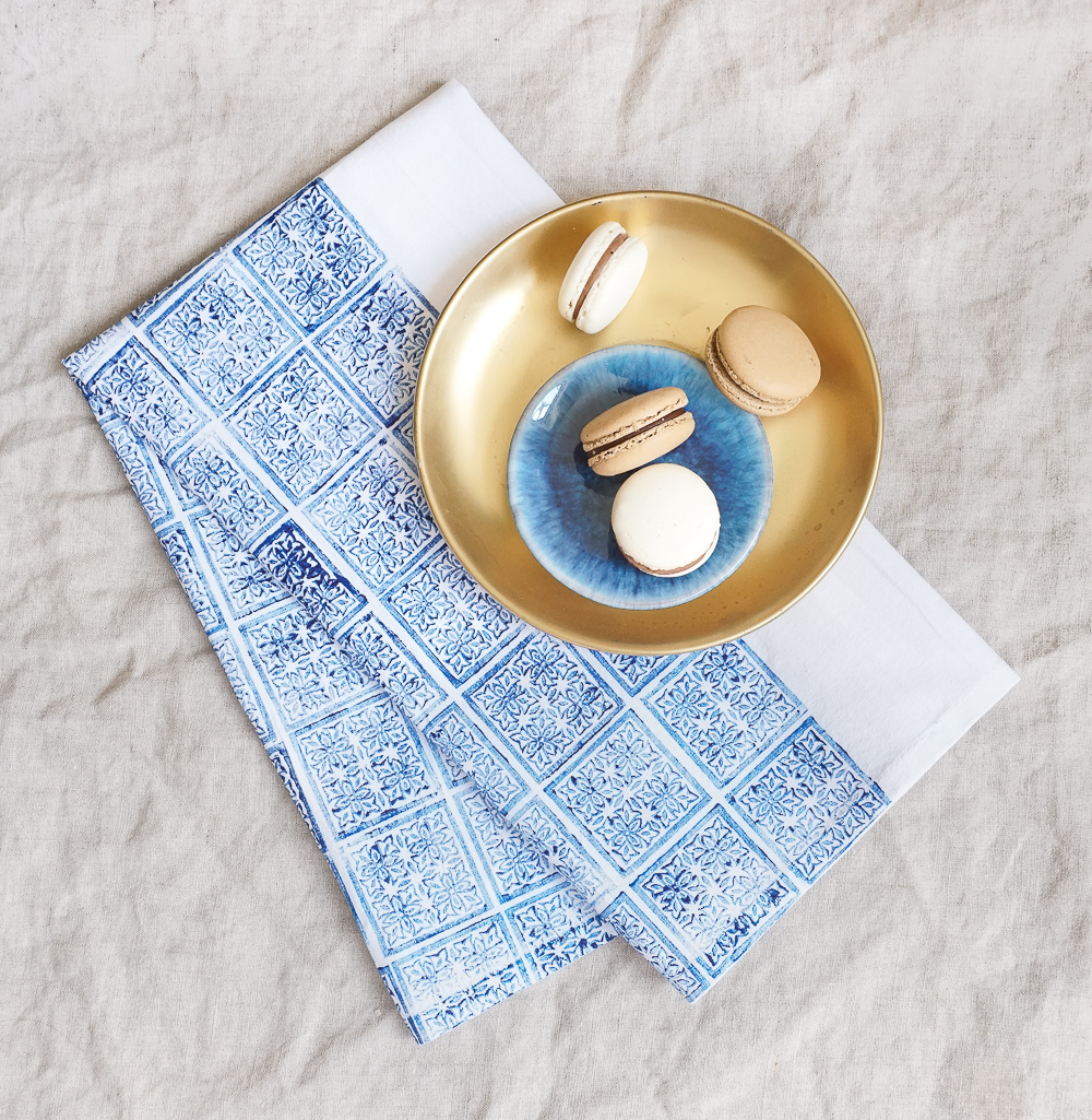 Hand-Blocked Indigo Tea Towel | Francois et Moi