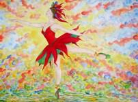 049 Danseuse rouge
