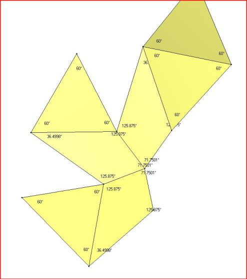 Chestahedron Net with Face angles