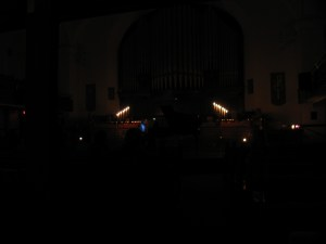 Performing Earth Hour in Regina