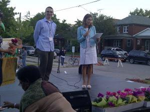 Frank Horvat at community event