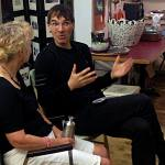 Frank with artist and writer Lorna Livey