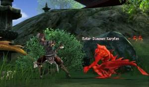 Loong Dragon Blood Kampf gegen roten Dämonankarpfen
