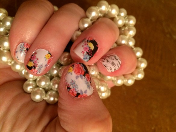 Jamberry Nails: Mad Hatter and Word to the Wise
