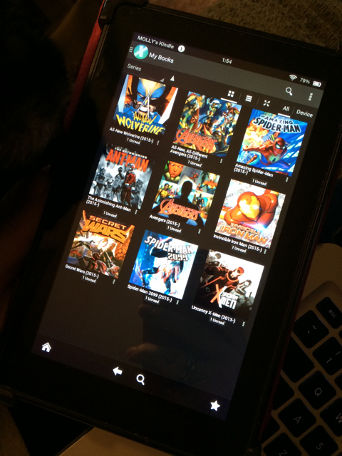 Comics on the Kindle