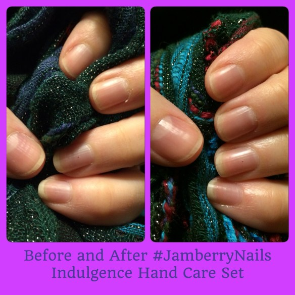 Before and After my Jamberry #IndulgenceJN treatment.