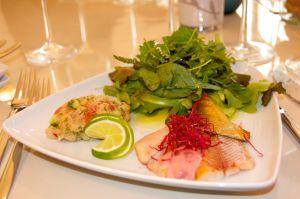 Fischteller Salat