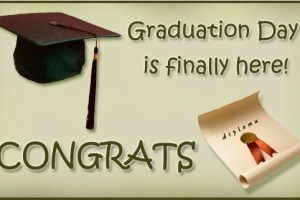 Latest Graduation SMS And Wishes