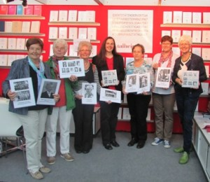 Die Frauengeschichtswerkstatt präsentiert die zweite ihrer Publikationen, das Buch Frauen gestalten Herrenberg, auf der Frankfurter Buchmesse, Oktober 2014
