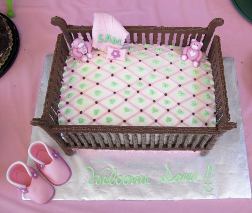 Medium Of Girl Baby Shower Cakes