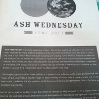 Thinking About... My First Ash Wednesday