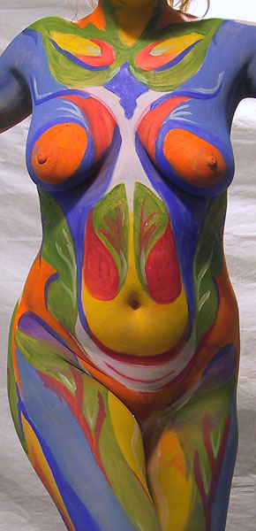 Botanic, 2001, bodypaint and photo by Fred Hatt