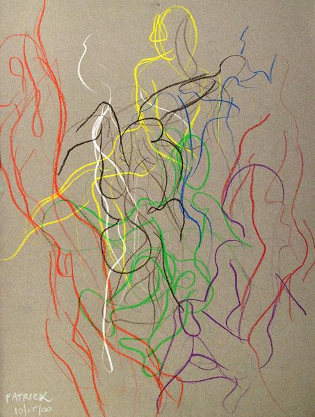 Patrick movement sketch, 2000, by Fred Hatt
