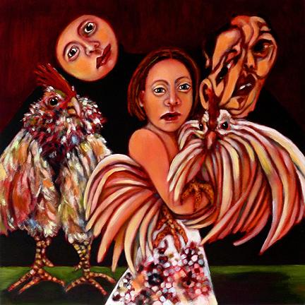 """Arlene Morris, Self Portrait, oil on board, 16"""" x 16"""" x 2"""", 2011"""
