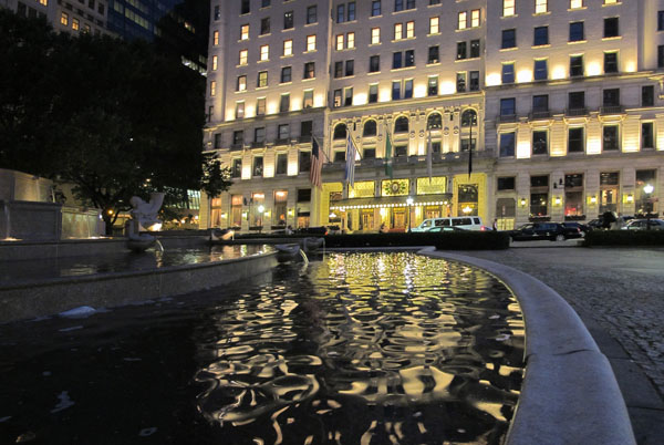 Plaza Fountain, 2010, photo by Fred Hatt
