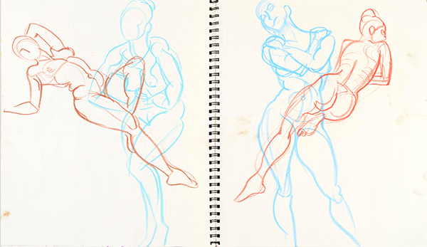Statue Poses, 2013, by Fred Hatt